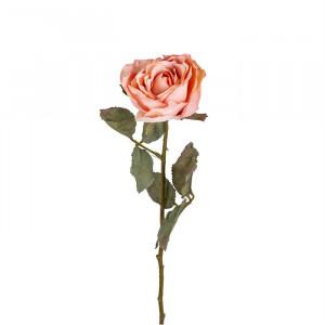 Set 12 flori artificiale roz deschis/verzi din plastic si metal 61 cm Rose Light Richmond Interiors