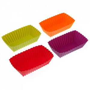 Set 12 forme pentru briose multicolore din silicon Cupcakes Versa Home