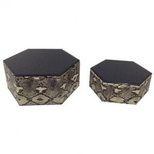 Set 2 cutii pentru bijuterii din sticla si MDF Penny Richmond Interiors