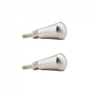 Set 2 manere argintii din alama 1,6 cm Knob House Doctor
