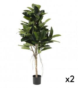Set 2 plante artificiale in ghiveci din plastic 150 cm Flower Ficus La Forma