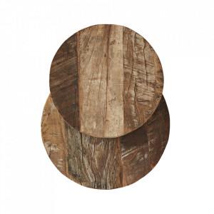 Set 2 platouri maro din lemn Ranja Madam Stoltz