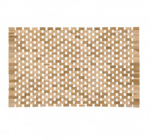 Set 2 protectii masa dreptunghiulare din lemn de tec 40x62 cm Azalea La Forma