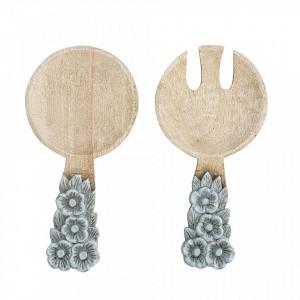 Set 2 tacamuri pentru salata din lemn Giva Bloomingville