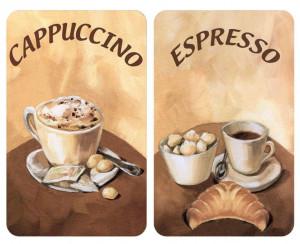 Set 2 tocatoare dreptunghiulare multicolore din sticla 30x52 Universal Coffee Wenko