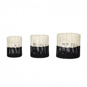 Set 3 cosuri alb/negru din bumbac Vasiliy Hubsch