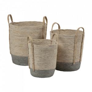 Set 3 cosuri maro din frunze de porumb Indian Be Pure Home