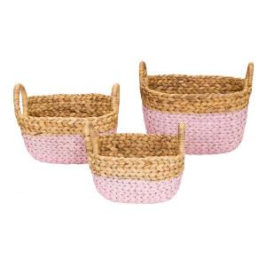 Set 3 cosuri maro/roz din fibre naturale Ty Kids Depot