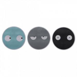 Set 3 stickere multicolore din PVC Faces Bloomingville Mini