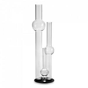 Set 3 vaze transparente din sticla Magnetic Bubble Serax
