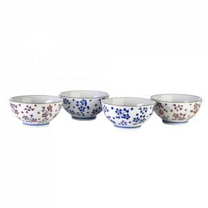 Set 4 boluri multicolore din ceramica 430 ml Dot Pols Potten