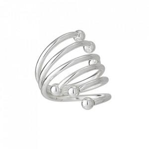 Set 4 inele pentru servetele argintii din inox Ritha Bloomingville