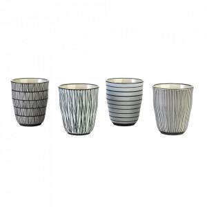 Set 4 pahare multicolore din ceramica Pastel Pols Potten
