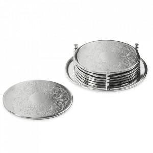 Set 6 coastere din metal argintat Brugge Edzard