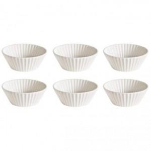 Set 6 forme albe din portelan pentru briose Estetico Cupcake Seletti