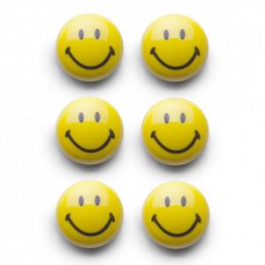 Set 6 magneti galbeni Smiley Zeller