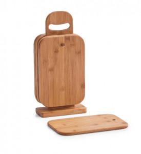 Set 6 tocatoare si suport din lemn Board Stand Seven Zeller