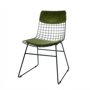 Set perne catifea verde pentru sezut si spatar scaun HK Living