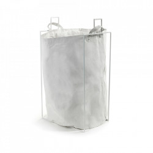 Set suport si cos de rufe alb din metal 48x65 cm Earth Serax