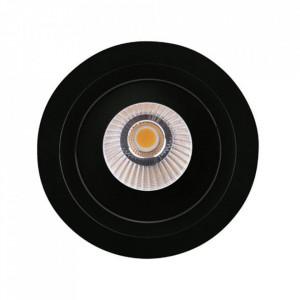 Spot negru din plastic si metal Hiden Maxlight