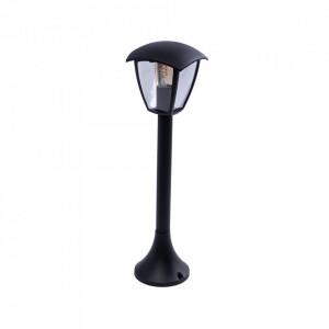 Stalp de iluminat exterior negru din aluminiu 63 cm Fox Aleas Milagro Lighting