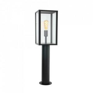 Stalp de iluminat negru/transparent din aluminiu si sticla 78,3 cm Boas Floor Steinhauer