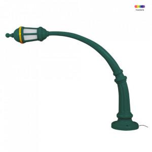 Stalp de iluminat verde din ciment si rasina 190,5 cm Street Seletti