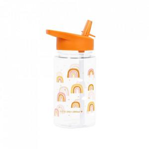 Sticla pentru apa portocalie din polipropilena 450 ml Rainbows A Little Lovely Company