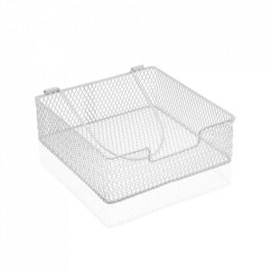 Suport alb din metal pentru servetele Napkin Versa Home