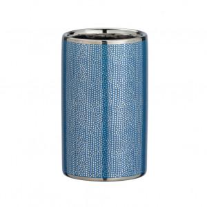 Suport albastru/argintiu din ceramica pentru periuta dinti 6,5x10,7 cm Nuria Wenko