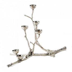 Suport argintiu din metal pentru lumanari  30 cm Squirrels Pols Potten