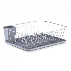 Suport argintiu/gri din metal si plastic pentru vase Zac Zeller