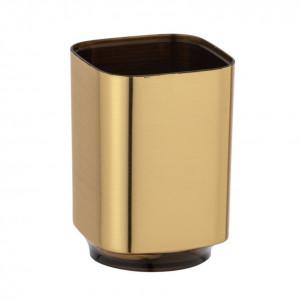 Suport auriu din plastic pentru periuta dinti 7x10 cm Auron Wenko