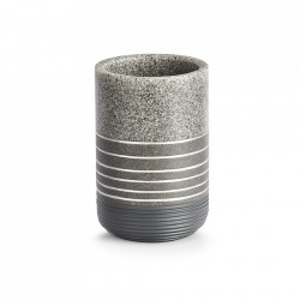Suport gri din polirasina pentru periuta dinti 7,3x10,5 cm Shine Zeller