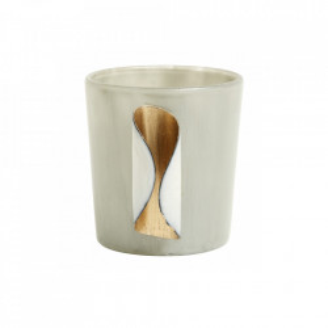 Suport gri din sticla pentru lumanare 7,5 cm Leticia Nordal