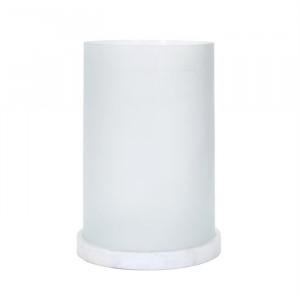 Suport lumanare alb din sticla si marmura 40 cm Albion Richmond Interiors