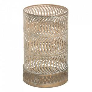 Suport lumanare auriu din metal 24 cm Faro Ixia