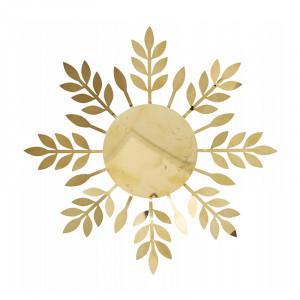 Suport lumanare auriu din metal Gollie Nordal