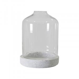 Suport lumanare din sticla si piatra 45 cm Betty Avi Vical Home