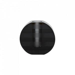Suport lumanare gri antracit din sticla 7 cm Graphic Oyoy