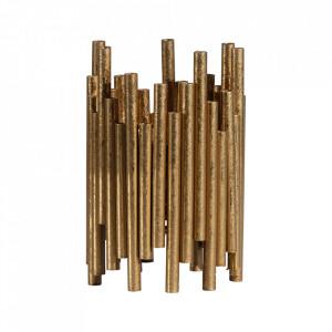 Suport lumanare maro alama din fier 18 cm Uneven Be Pure Home