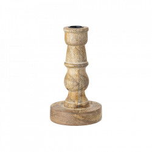 Suport lumanare maro din lemn 17 cm Henrietta Bloomingville