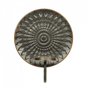 Suport lumanare negru din fier pentru perete 25 cm Glare Be Pure Home