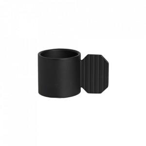 Suport lumanare negru din metal 8 cm Art Hexagon Oyoy