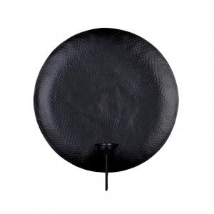 Suport lumanare pentru perete negru din aluminiu 52 cm Rod Lifestyle Home Collection