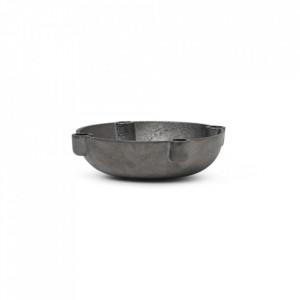 Suport lumanari din alama 3,7 cm Bowl Ali Black Ferm Living