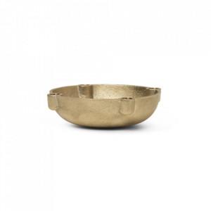 Suport lumanari din alama 3,7 cm Bowl Ali Brass Ferm Living