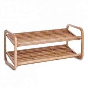 Suport maro din lemn de bambus pentru incaltaminte Wood Zeller