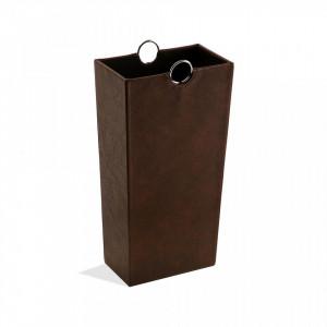 Suport maro din piele pentru umbrela 53 cm Umbrella Stand Chocolate Versa Home