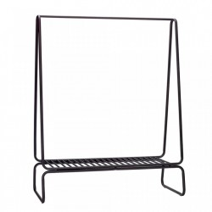 Suport negru din metal 122 cm pentru umerase Metal Rack Hubsch